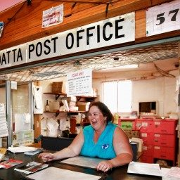 Hayley Nunn at the Post Office counter